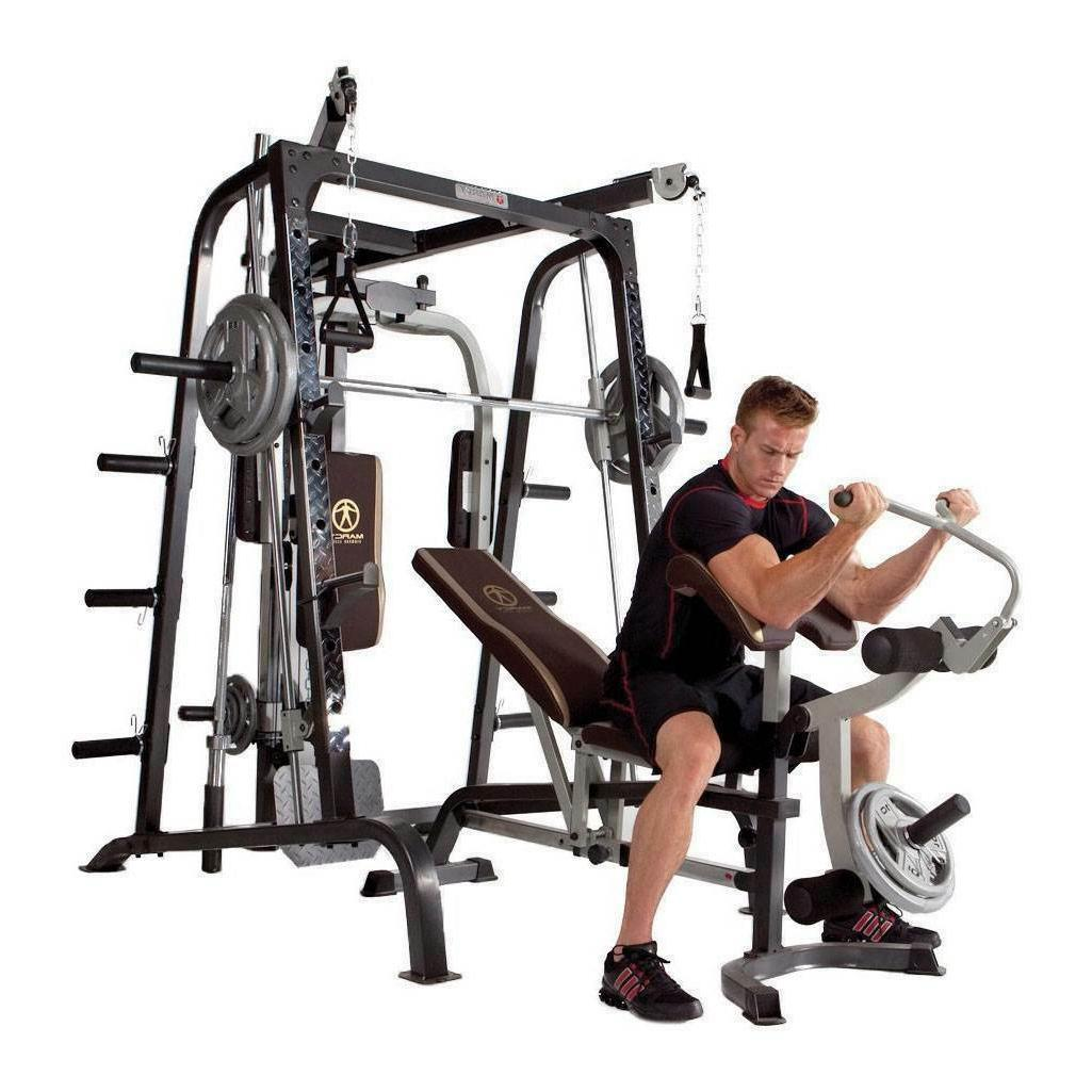 Marcy Deluxe Smith Cage Home Workout Machine System