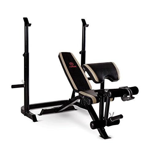Marcy Olympic Weight Bench with Leg and Squat Rack