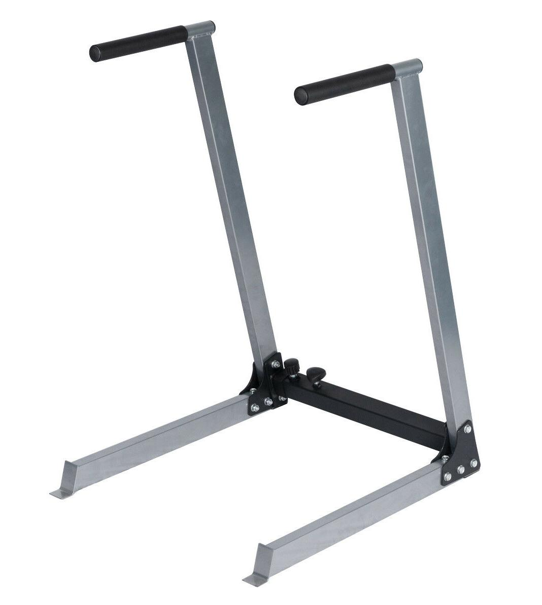 dip stand station body press bar workout