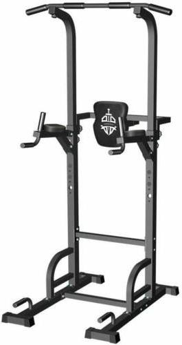 Sportsroyal Pull Up Bar Power Tower Adjustable Height f Indo
