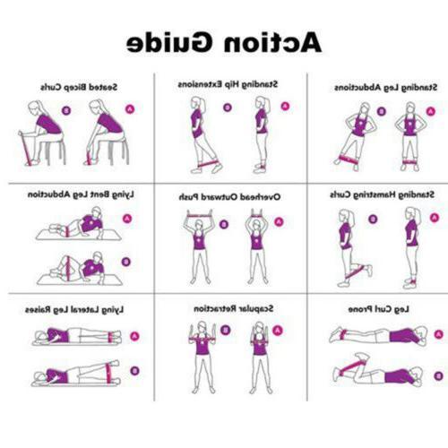 4Pcs Band Physio Fitness