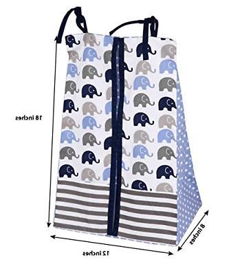 Elephants Blue/Grey crib set including Pad