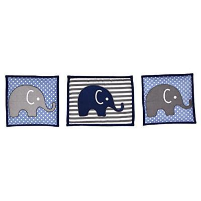 Elephants Blue/Grey 10 pc crib Pad