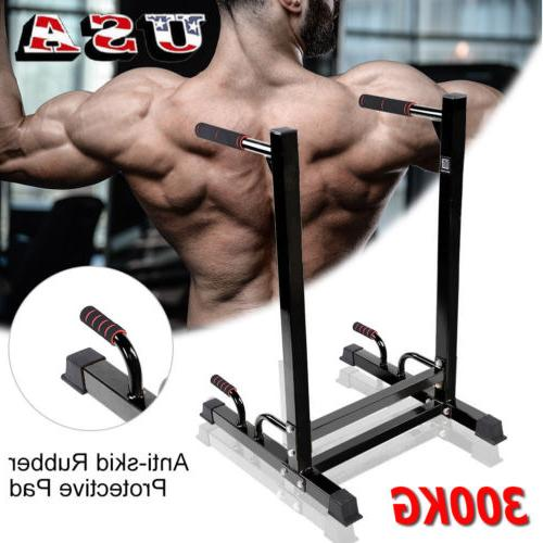 fitness dip station dipping stand pull push