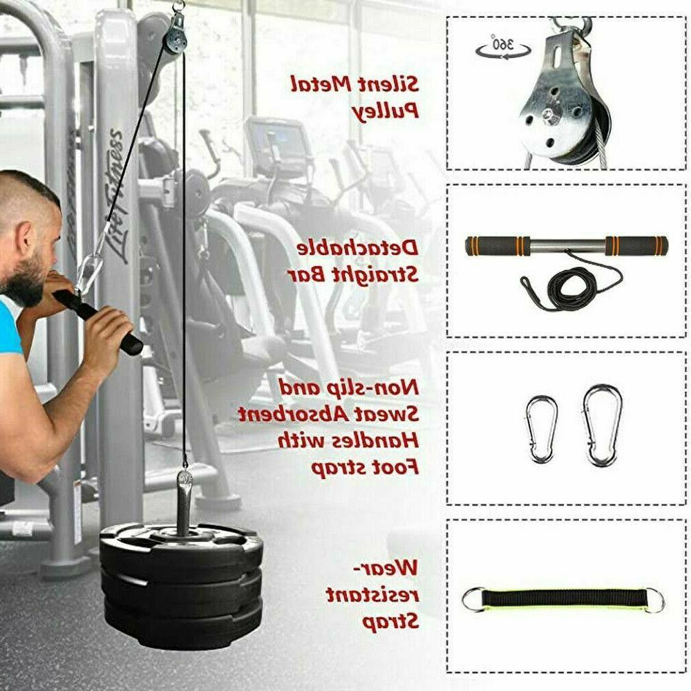 Fitness Cable Gym Workout Home Tool