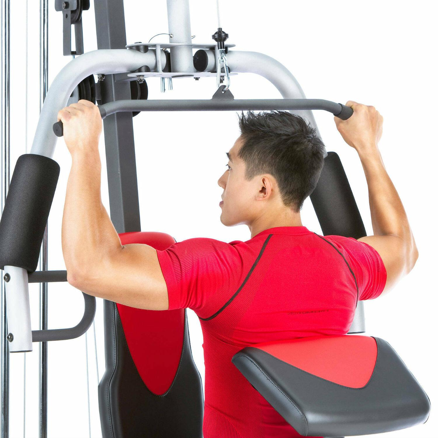 Fitness Gym 214 Lbs Resistance Stack 6 Workout