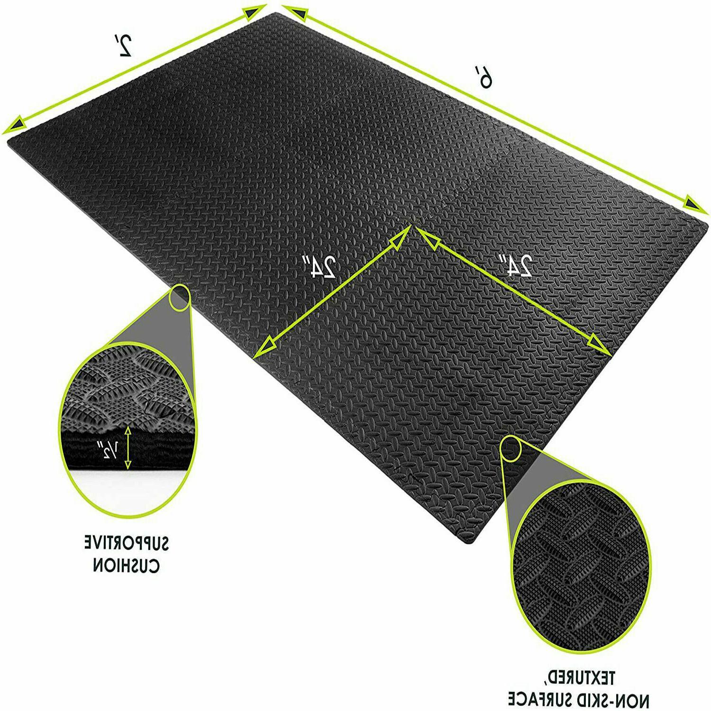 Floor Mat Exercise Rubber Tiles Garage Home Fitness