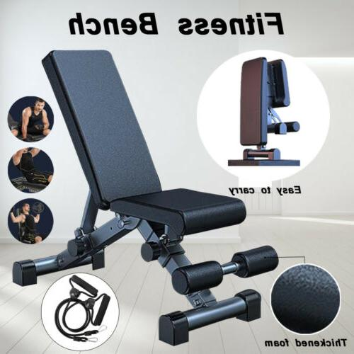 foldable dumbbell bench weight training fitness incline