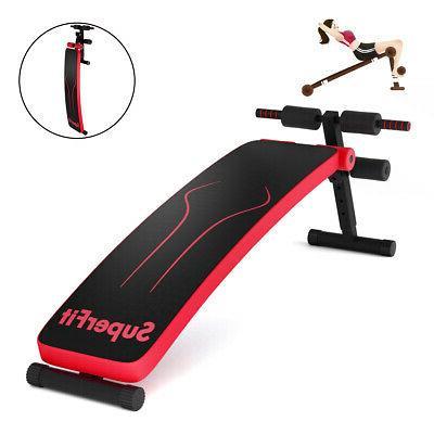 Folding Weight Bench Adjustable Sit-up Board Workout Slant B