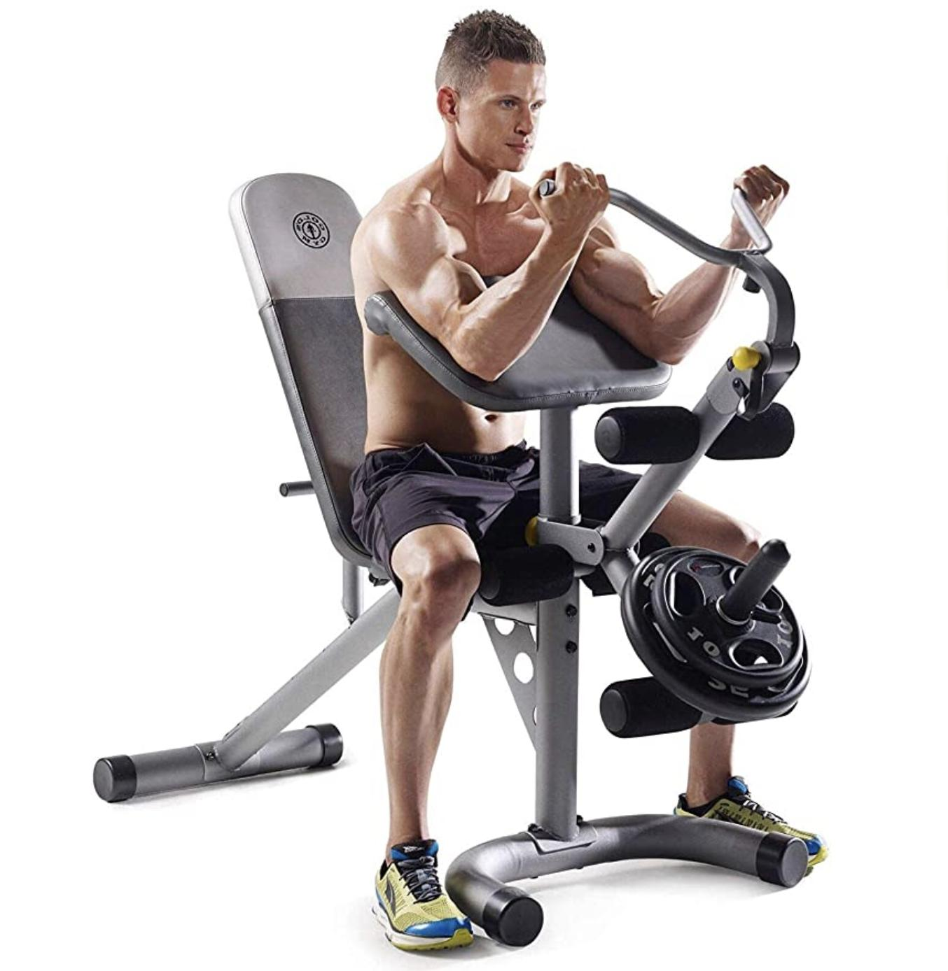 Gold's Gym Multi Functional Olympic Weight Bench Home