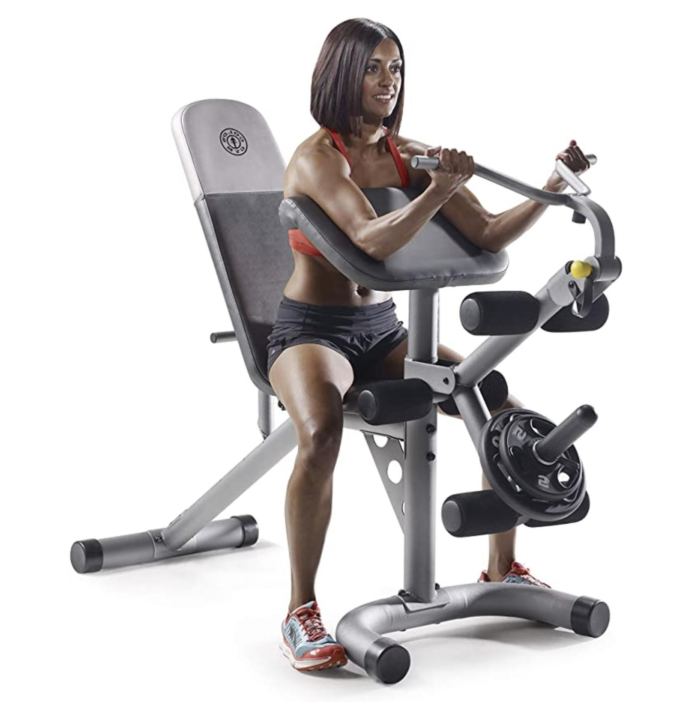 Gold's Gym XRS 20 Multi Functional Olympic Weight Bench Home Workout