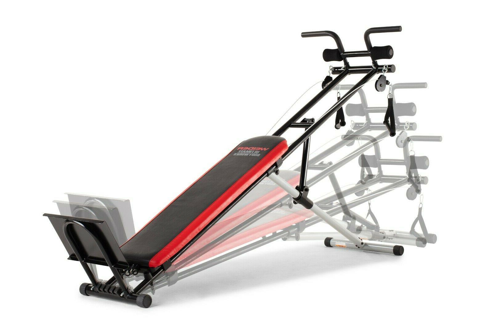 Weider Gym Exercise Body Works Bench Fitness Strength Machin
