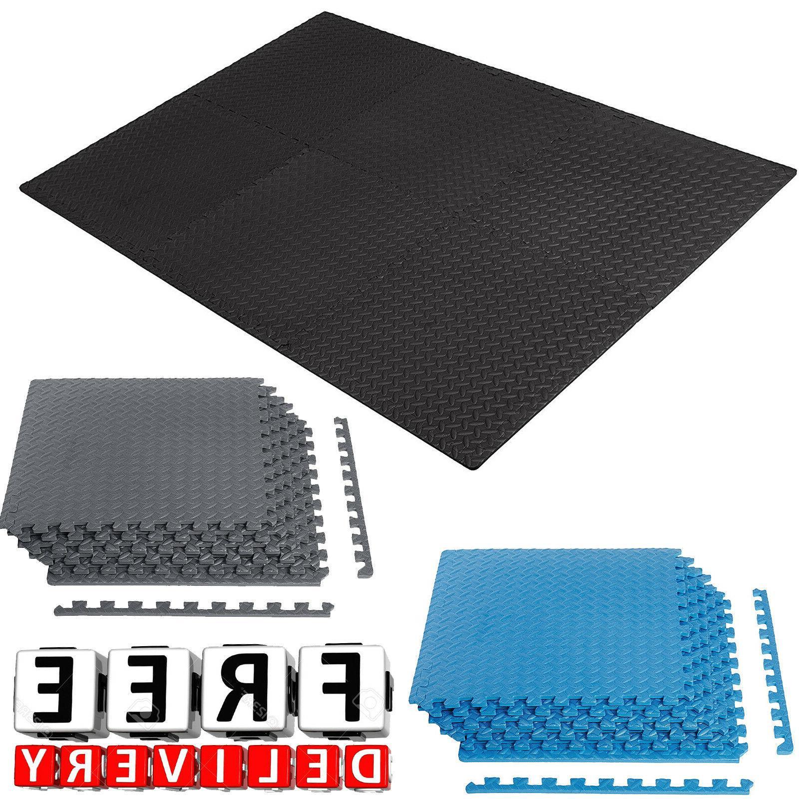 Gym Flooring Floor Fitness Home Heavy Duty Foam Tiles Exerci