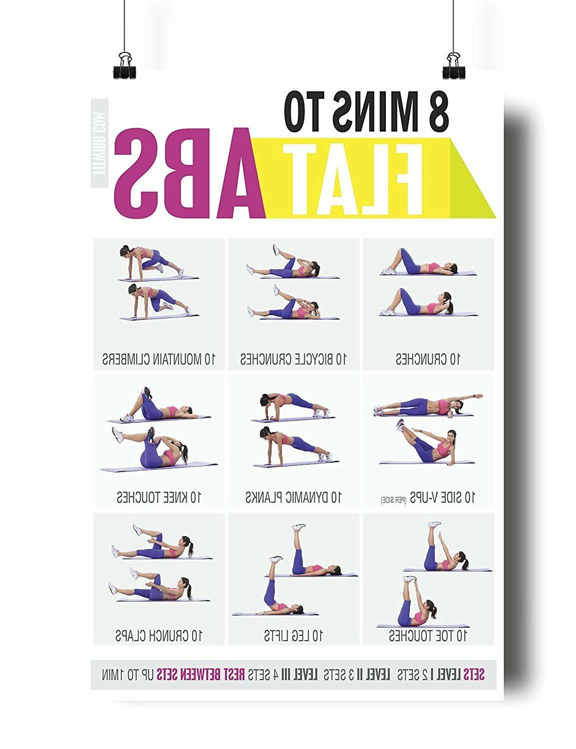 Gym/Home Exercise Posters of 5 NOW LAMINATED
