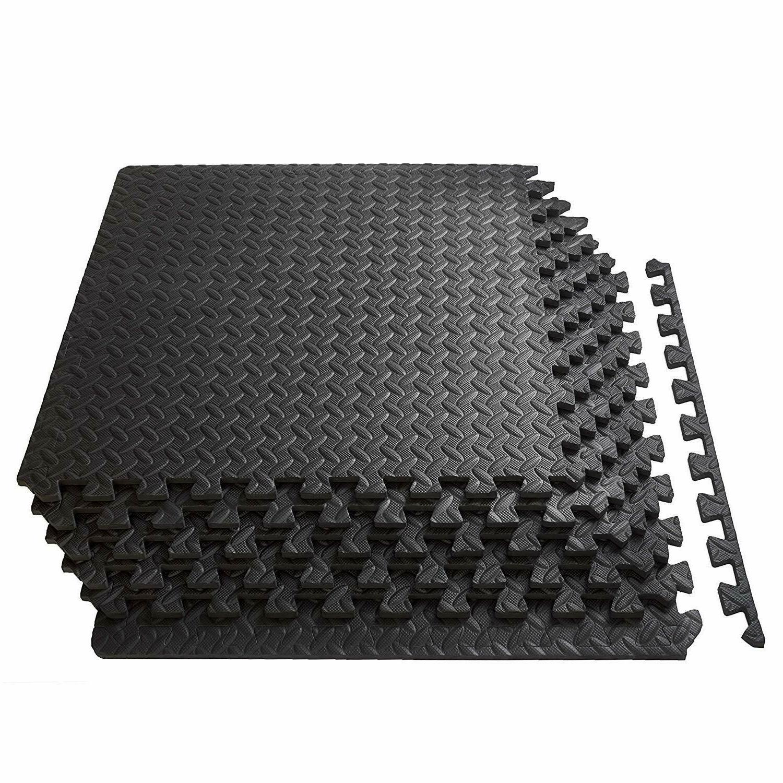 Gym Exercise Floor Mat Rubber Flooring Tiles Garage Home Fit