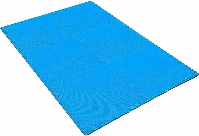 GYM FLOORING Tiles Garage 24 SQFT Workout Mat