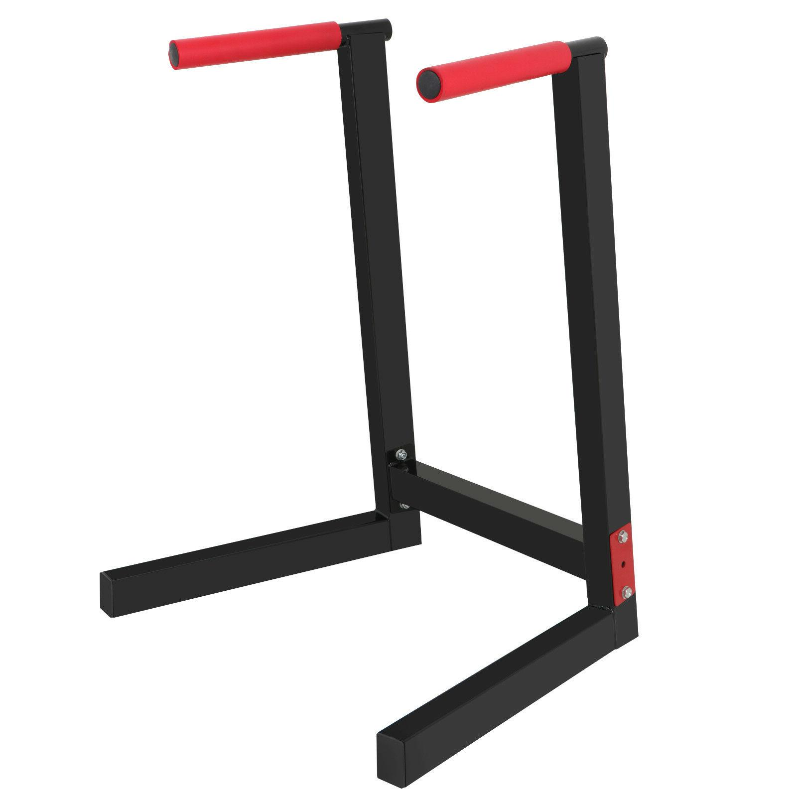 Heavy Duty Steel Dip Stand Parallel Bar Fitness Home Gym Dip