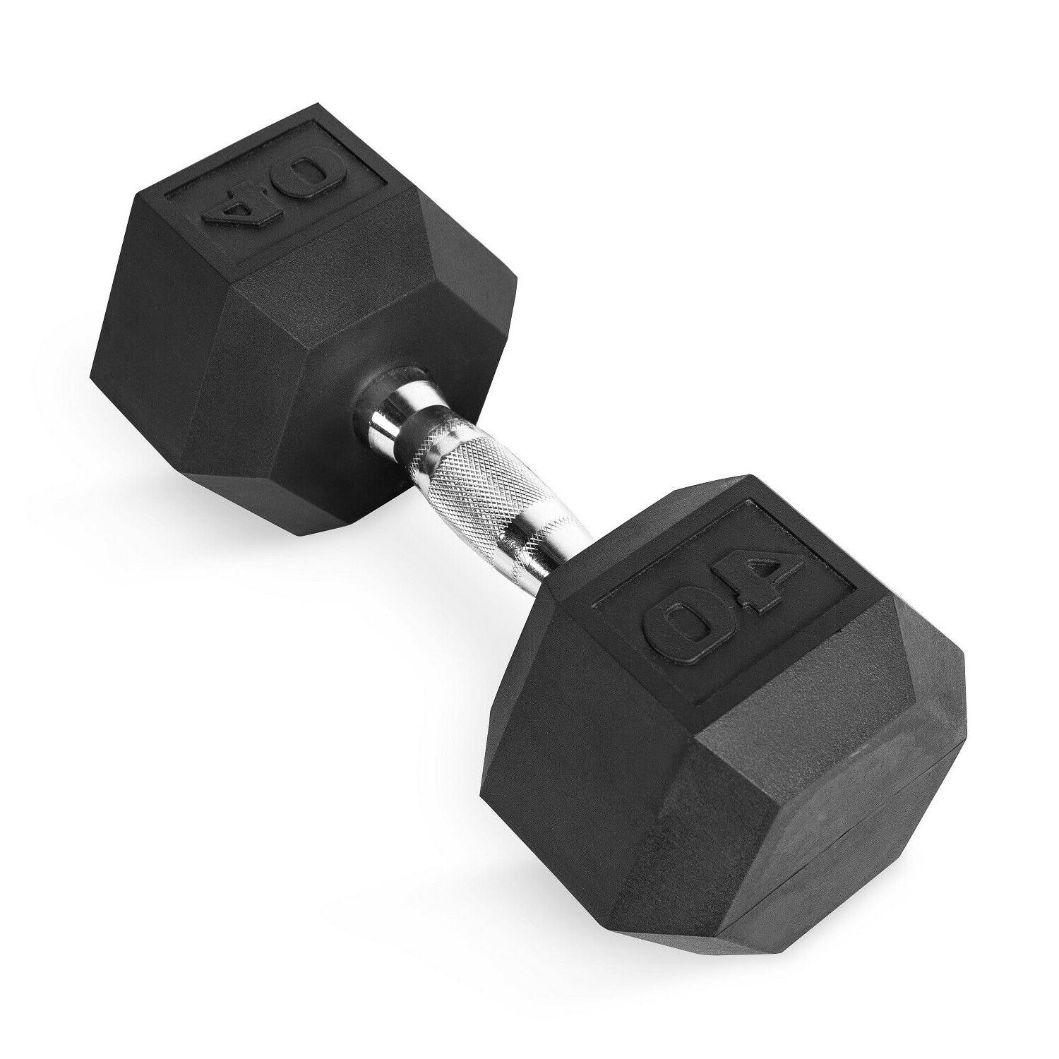 Hex Dumbbells Cast Rubber Gym Weight