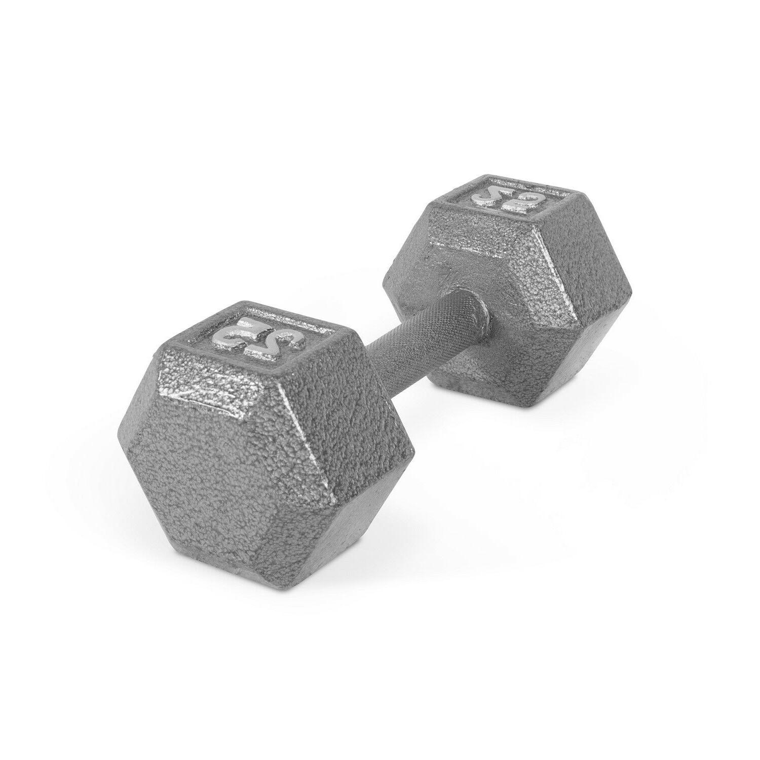 Hex Dumbbells Cast Rubber Gym Weight Training Single