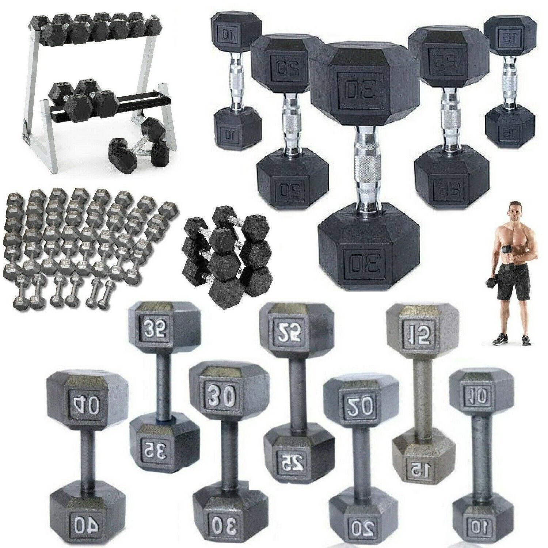 hex dumbbells cast iron rubber home gym