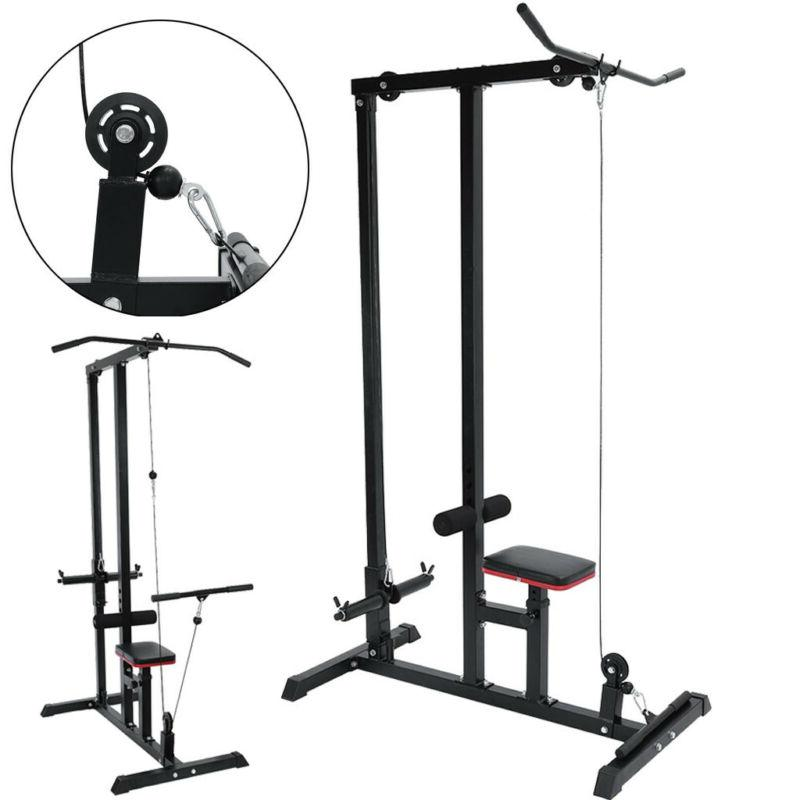 Home Gym Best Lat Tricep Pulley Pull Dip Weight Station Rack