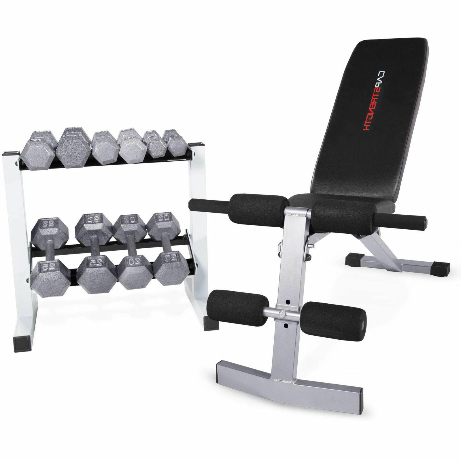 home gym exercise set fid bench 150