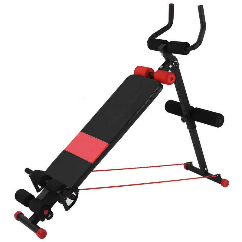 Adjustable Up AB Incline Abs Fly Weight Gym W/ Fitness Rope