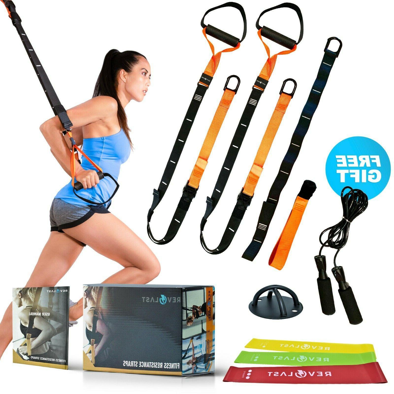 home gym resistance straps suspension trainer bodyweight