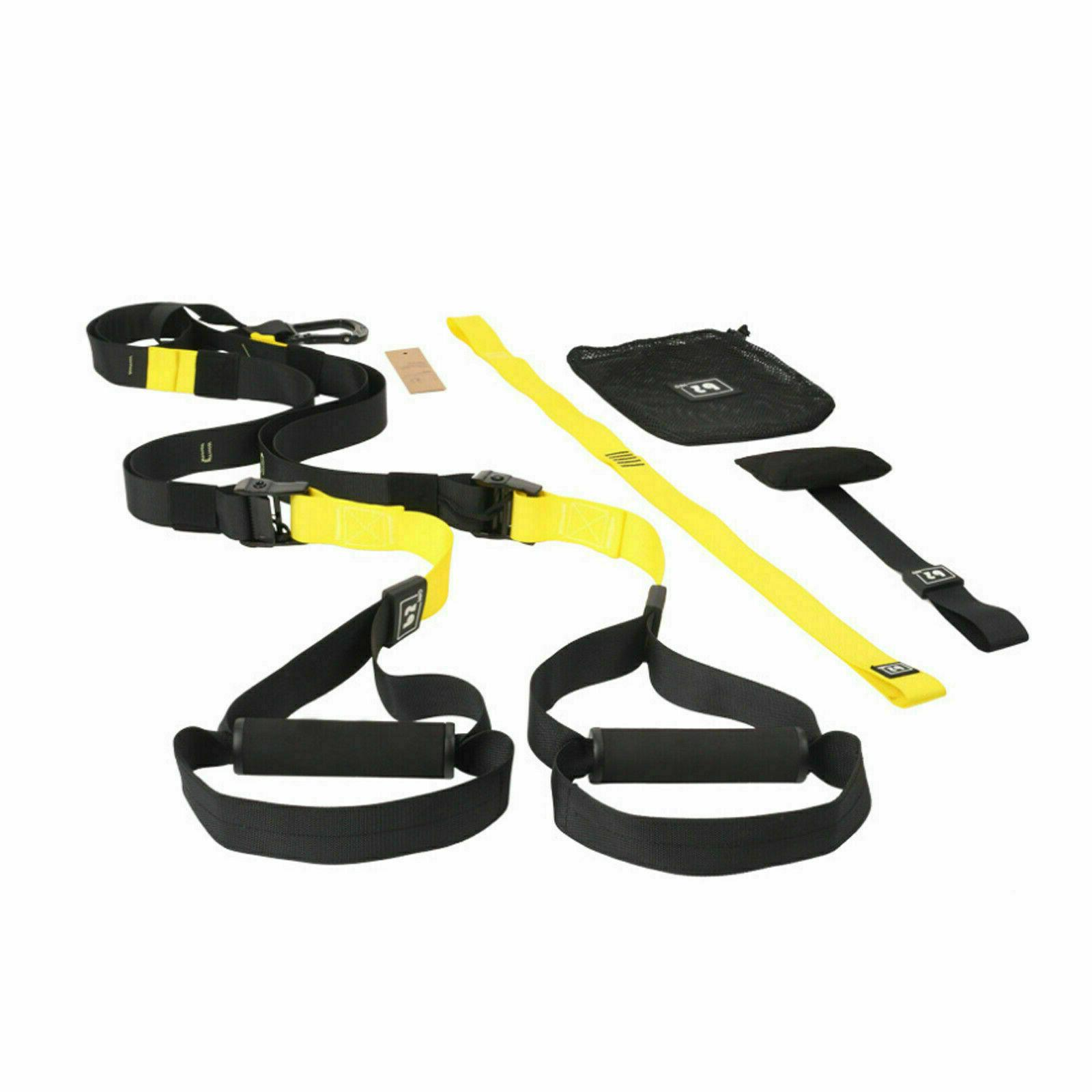 Home Gym Suspension Strength Fitness Straps Workout