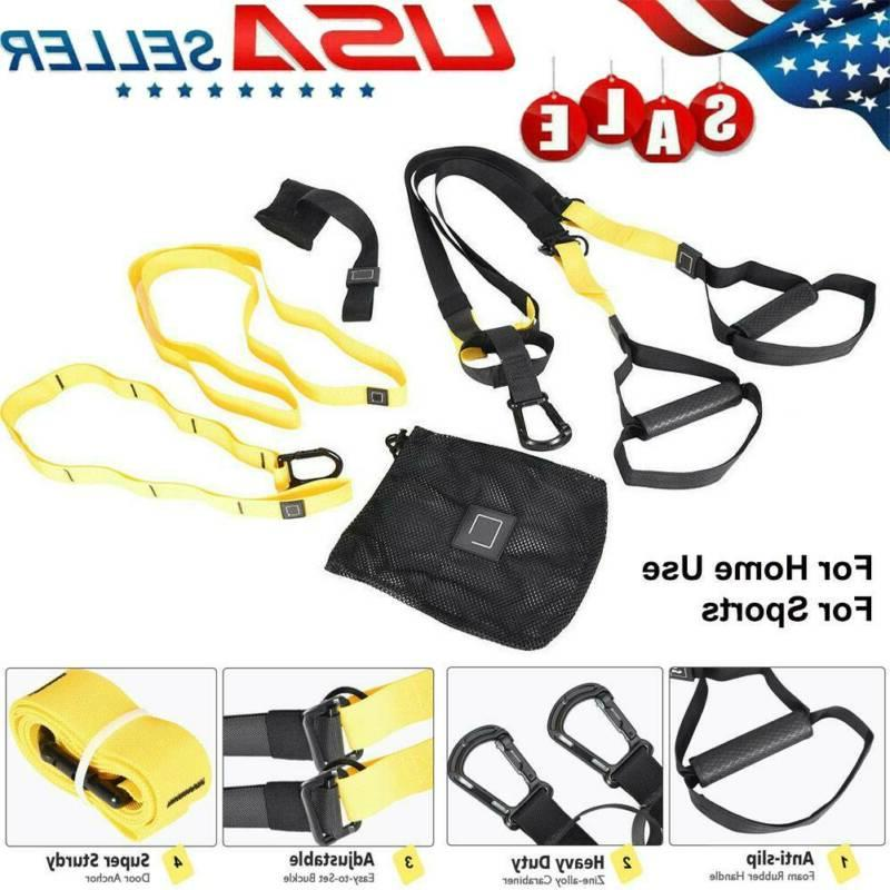home gym suspension resistance strength training strap