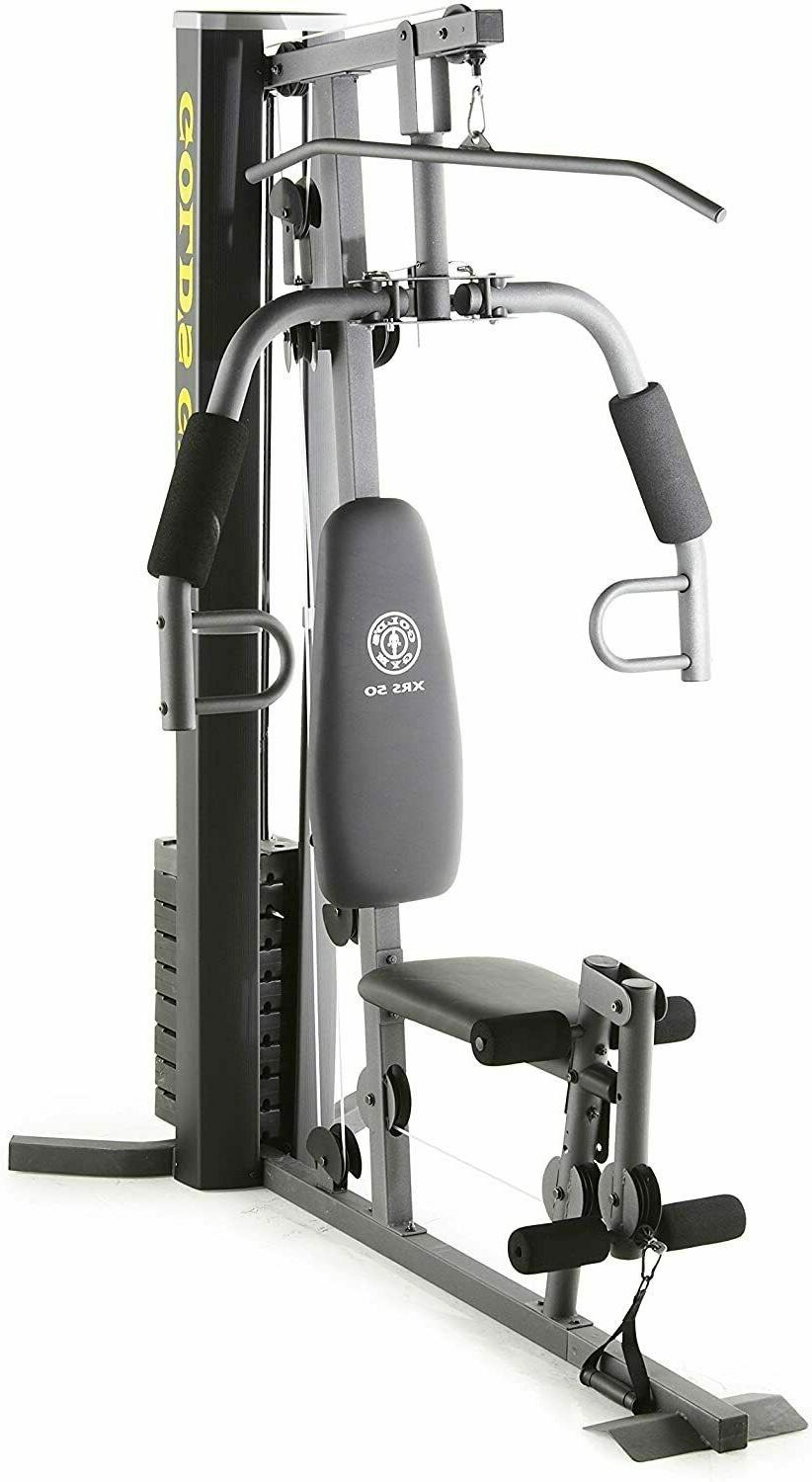 Home Gym System with 5 Workout Stations
