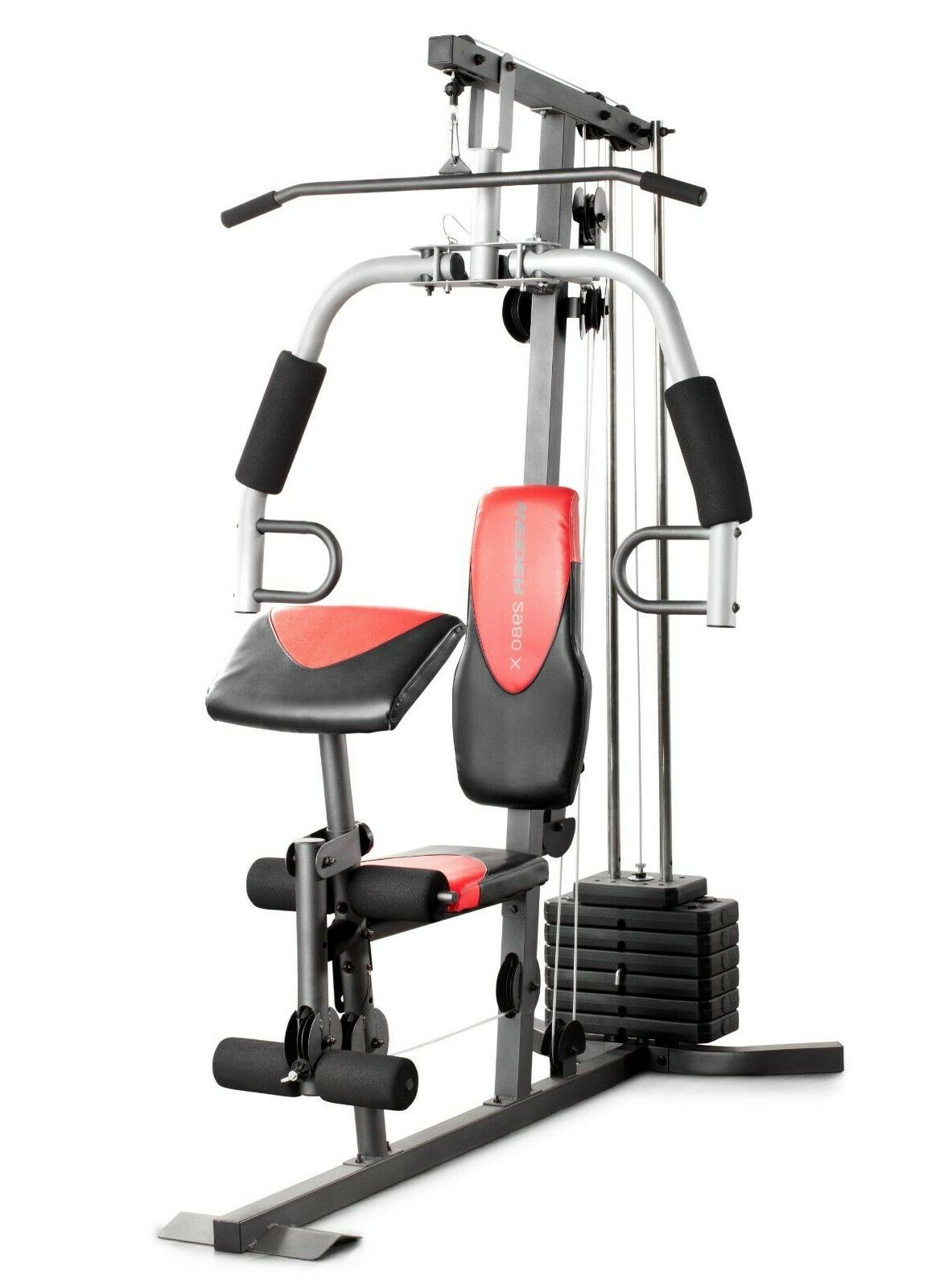 home gym with 214 lbs of resistance