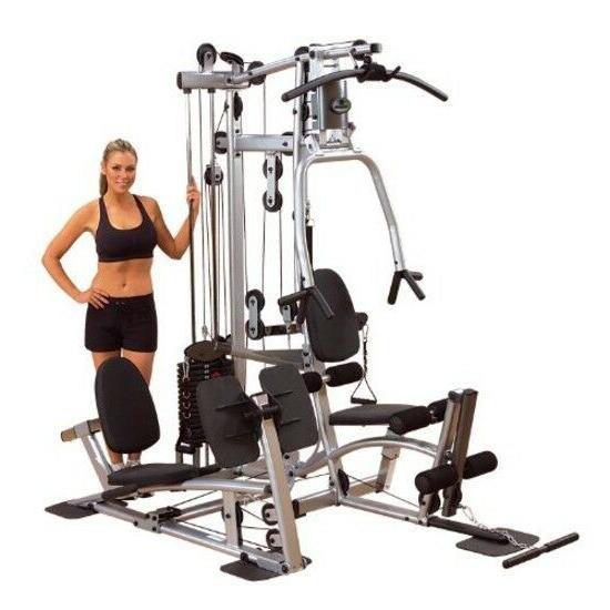 home gym with leg press grey black