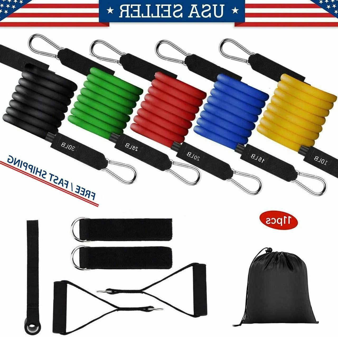 Home Bands Set Yoga Exercise Equipments Training Fitness