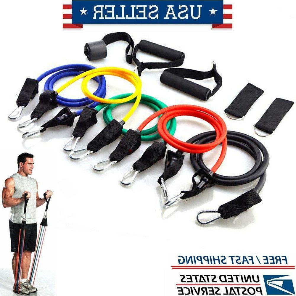 home workout resistance bands set yoga gym