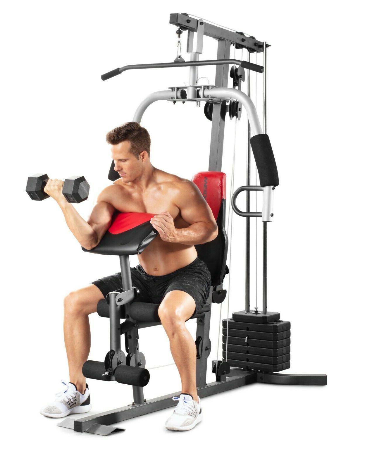 Weider 2980 Gym System Leg Developer Chest Fly Pad Workout