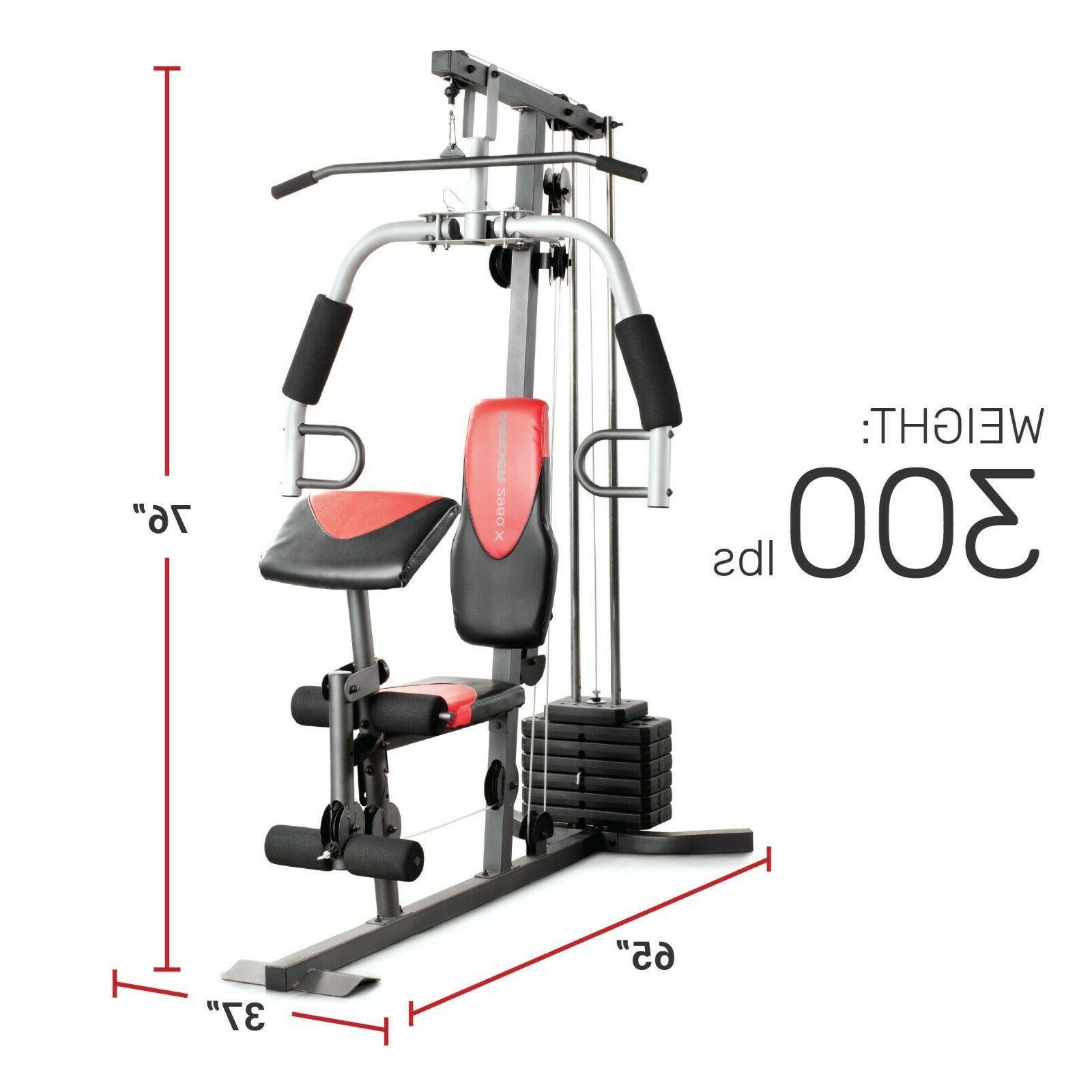 Weider 2980 X Home Gym System Leg Developer Chest Fly Preach