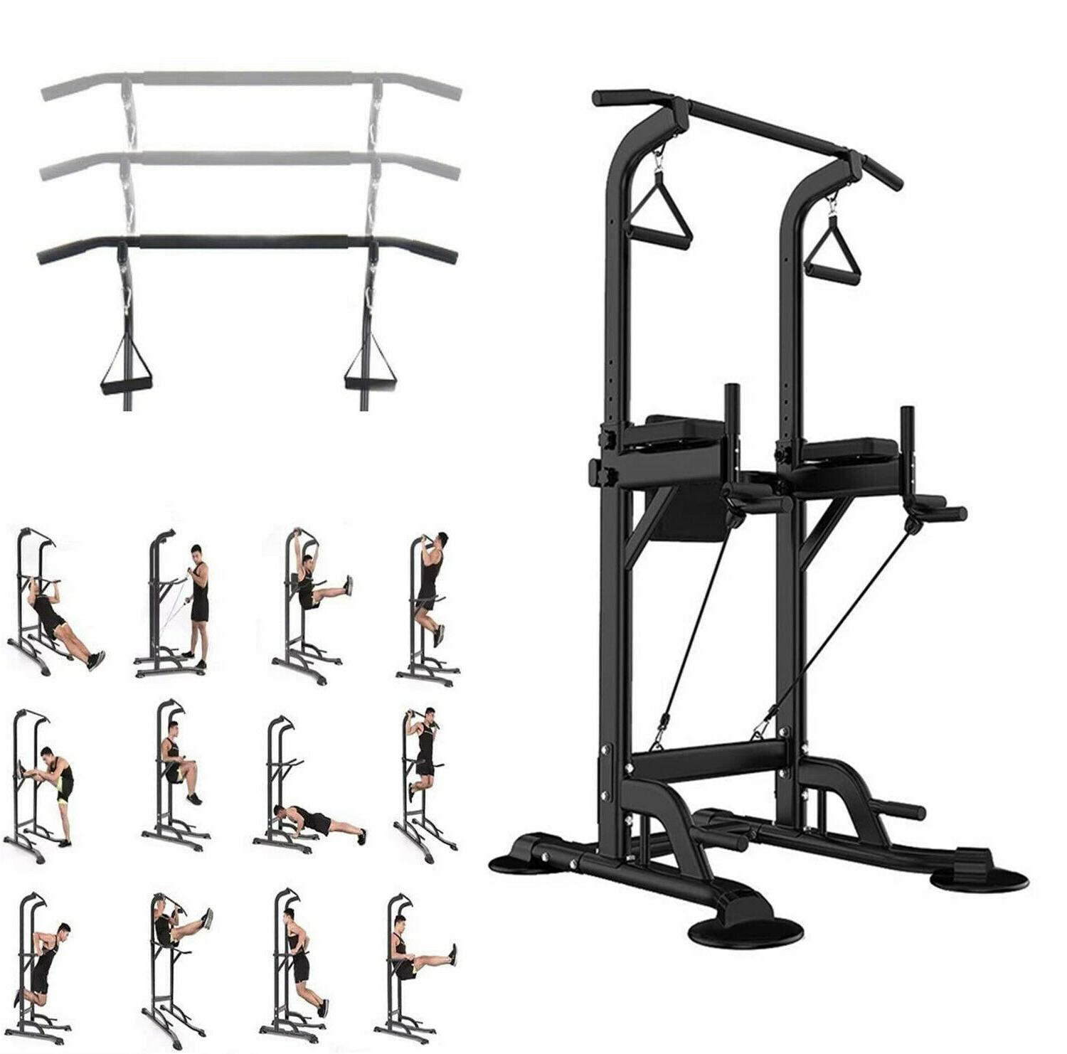 lb power tower bar pull up fitness