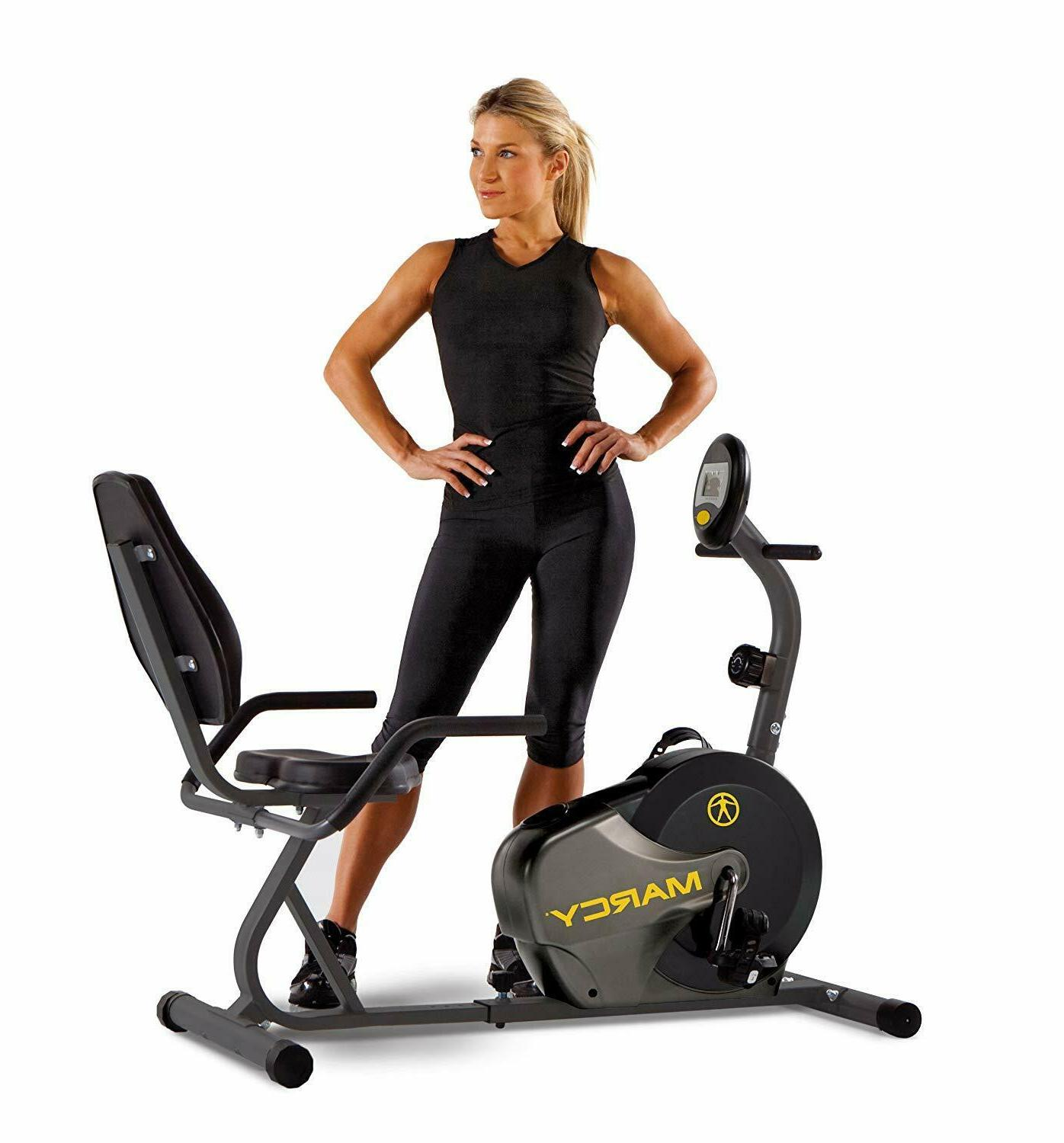 magnetic recumbent bike with adjustable resistance
