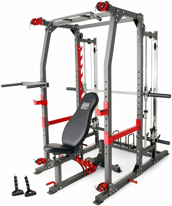 Marcy Pro Smith Machine Weight Bench Home Gym