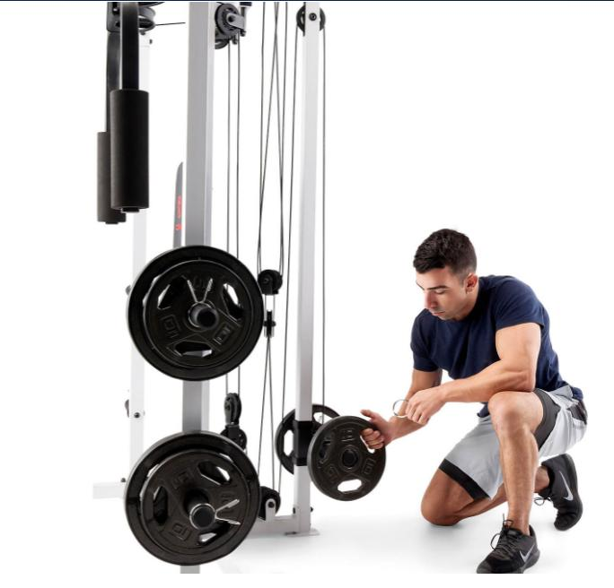 Marcy + lbs weight set Cage Home Gym NEW - Ready FREE