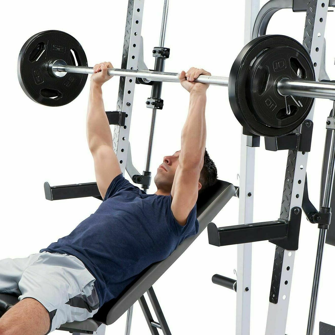 Marcy MD-5191 Smith Cage Home Gym and 210lbs weight  New - R