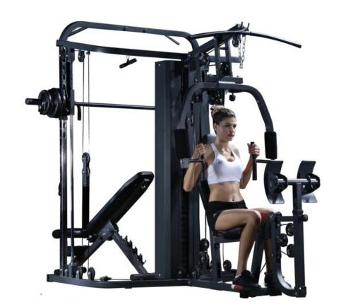 Multifunctional Home Gym Smith Machine Cable