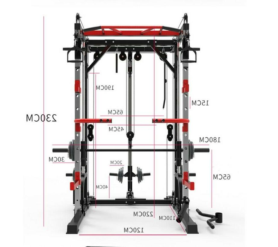 Multi-functional Smith Machine w/weight plates set and extra