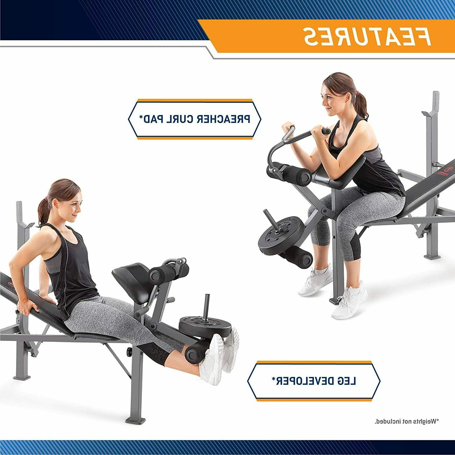 MARCY Full Utility Bench Home Gym Equipment