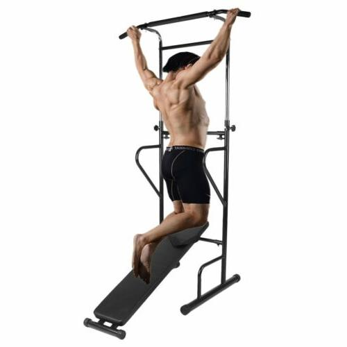 Dip Station Chin Up Bar Power Push Gym Fitness exercise BR