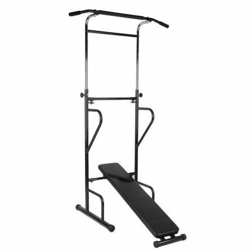 Dip Station Chin Up Bar Tower Pull-up Push Home Fitness exercise BR