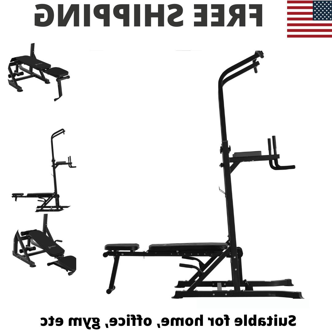Power Tower Exercise Weight Machine Home Gym