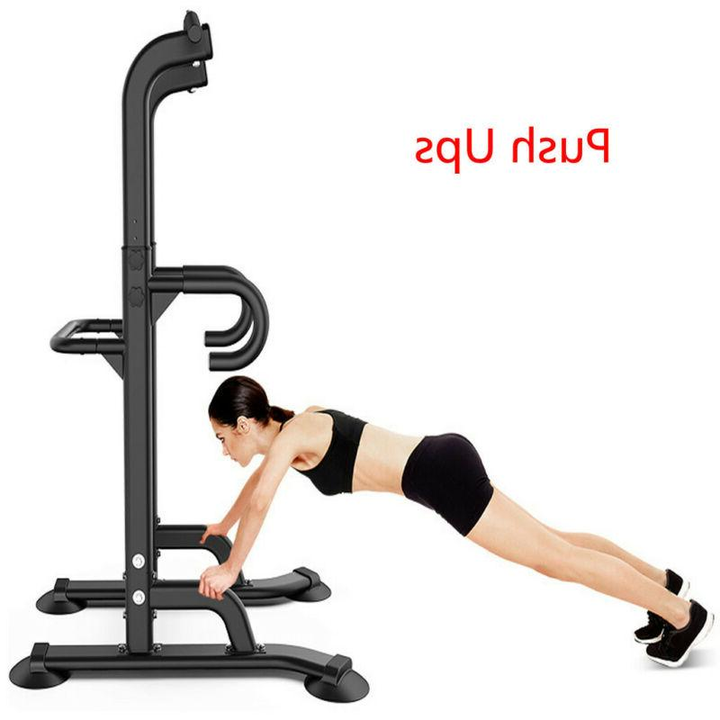Adjustable Tower Pull Up Station Home Gym Workout Strength