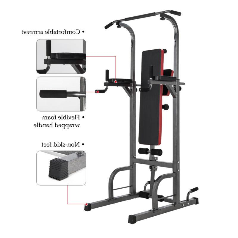 Pull Up Bar Power Tower Adjustable Height for Indoor Home Gy